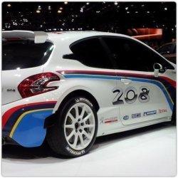 Décoration adhésive 208 R5 adaptée sur Peugeot 106 maxi