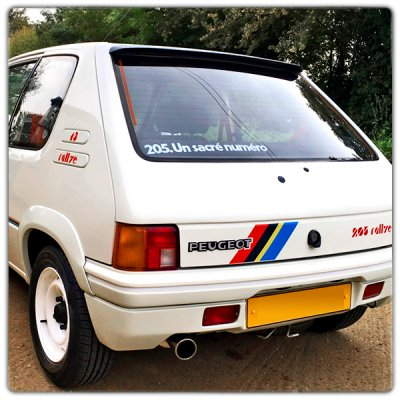 Adhésifs 205 Rallye