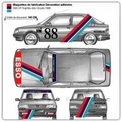 Maquettes 309 GTI Turbo Trophée des Circuits