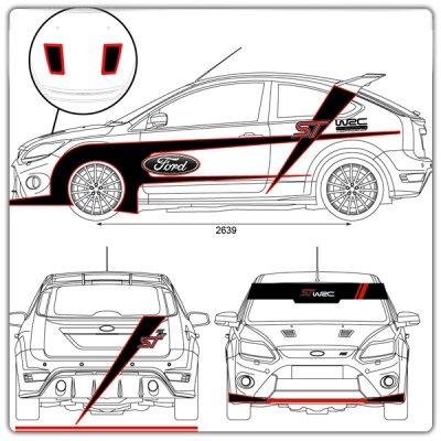 Décoration adhésive Ford ST