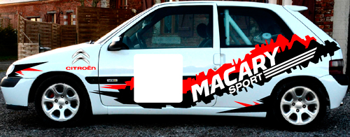 Sticker rallye Visuel de coté