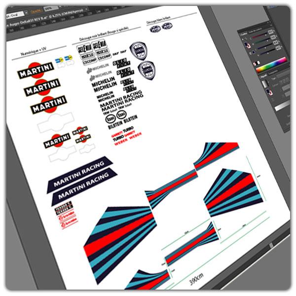 Maquettes de découpe vinyle et impression numérique polymere