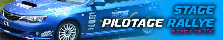 Stages de pilotage rallye ppac