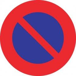 Sticker interdit de stationner