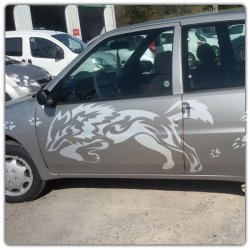 Sticker tribal loup