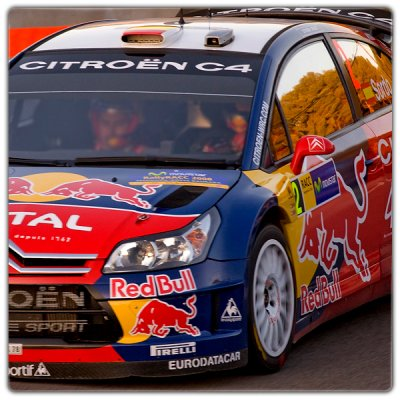 Décoration C4 WRC 2008 Rallye vue avant