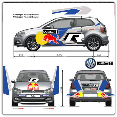 Décoration rallye Polo R WRC arriere