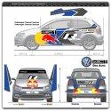 Décoration adhésive Polo R WRC Ogier