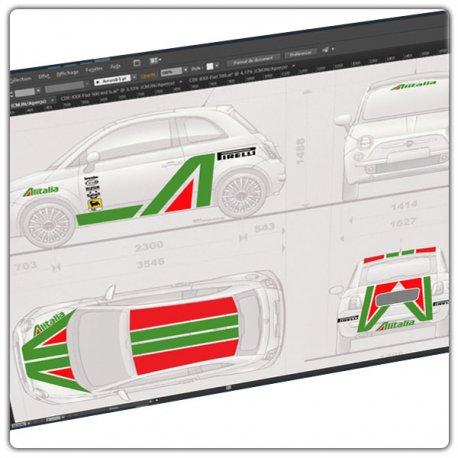 Kit déco Fiat 500 Alitalia type 1