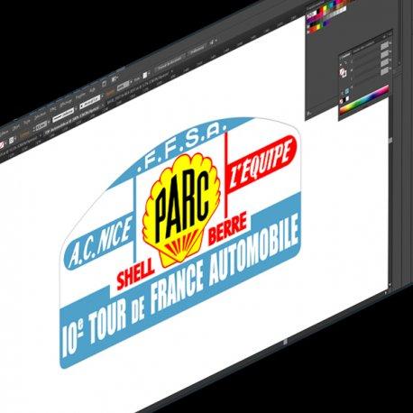 Sticker Plaque Rallye Tour de France FFSA