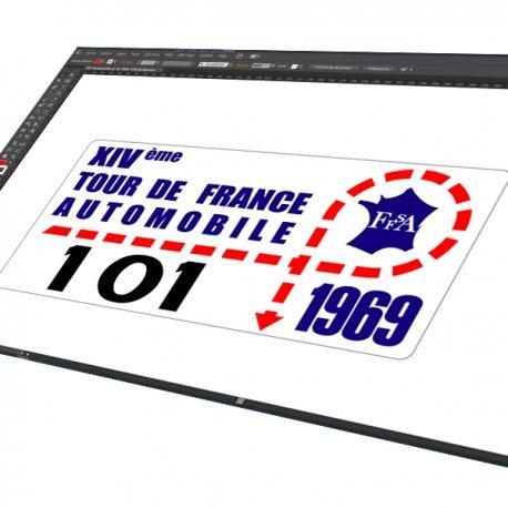 Sticker Plaque Rallye 14 e Tour de France automobile
