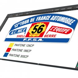 Sticker Plaque Rallye 13e Tour de France FFSA