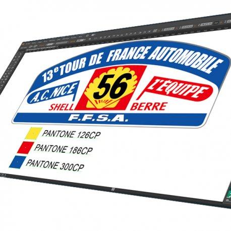Sticker Plaque Rallye 13e Tour de France FFSA