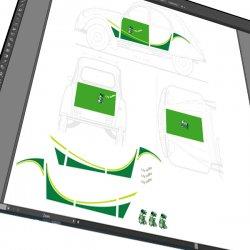 Stickers autocollant 2CV Bleifrei