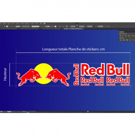 Autocollants stickers red bull