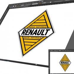 Sticker Renault régie Nationale
