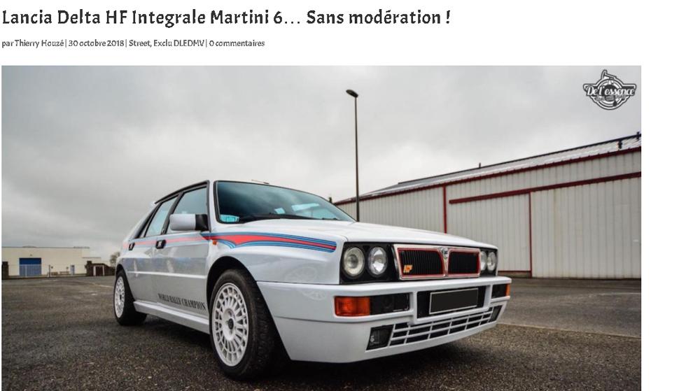 la Delta servait surtout à Lancia d'aller enfiler les titres en mondial de Rallye, 10 au total, dont 6 rien que pour la Delta.